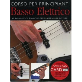 AAVV CORSO PRINCIPIANTI BASSO ELETTRICO + DOWNLOAD CARD