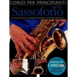 AAVV CORSO PRINCIPIANTI SAX ALTO + DOWNLOAD CARD