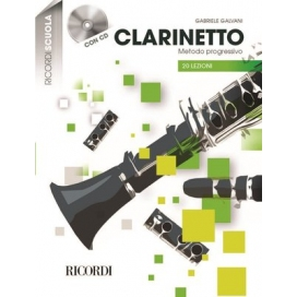 GALVANI METODO PROGRESSIVO CLARINETTO 20 LEZIONI + CD