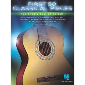 AAVV FIRST 50 CLASSICAL PIECES YOU SHOULD PLAY ON GUITAR