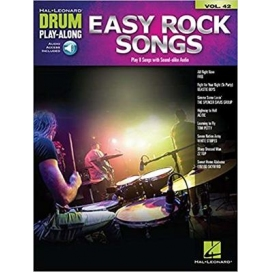 AAVV DRUM PLAY ALONG VOLUME 42 EASY ROCK SONGS + AUDIO ACCESS