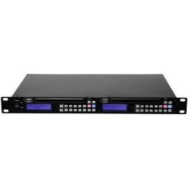 OMNITRONIC DMP-202 DUAL USB/CD PLAYER