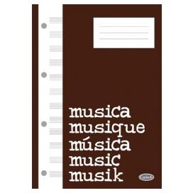 QUADERNO MUSICKBLOCK 112 PAGINE 12 RIGHI BIANCO