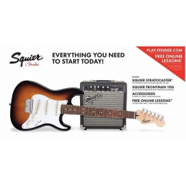 SQUIER STRAT PACK 10G SHORT SCALE BSB