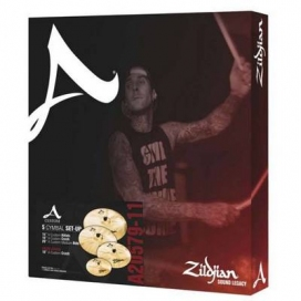 Zildjian Cartone 5 A Custom 390 (A20579-11): ride + hi-hat + 2 crash