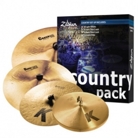 "Zildjian Cartone 5 K ""Country"" (K0801C): ride + hi-hat + 2 crash"