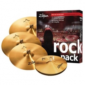 "Zildjian Cartone 5 A ""Rock"" (A0801R): ride + hi-hat + 2 crash"