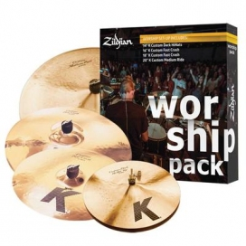 "Zildjian Cartone 5 K Custom ""Worship"" (KC0801W): ride + hi-hat + 2 crash"