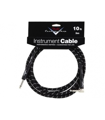 FENDER INSTRUMENT CABLE 90° 3 MT. C.SHOP BLACK TWEED