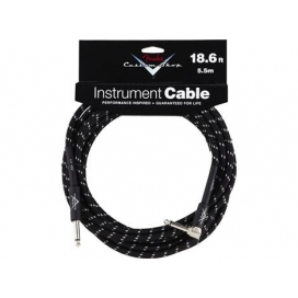 FENDER INSTRUMENT CABLE 90° 5.60 MT. C.SHOP BLACK TWEED