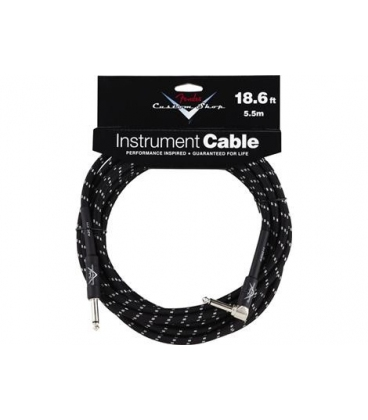 FENDER INSTRUMENT CABLE 90° 5.60 MT. C.SHOP BLACK TWEED