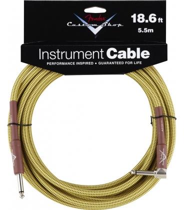 FENDER INSTRUMENT CABLE 90° 5.60 MT. C.SHOP TWEED