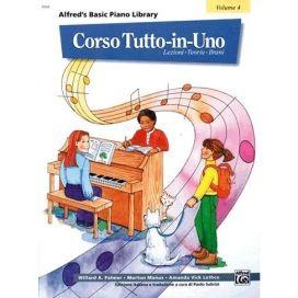 PALMER/MANUS CORSO TUTTO IN UNO PIANOFORTE LIV.4