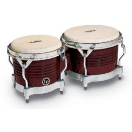 LP M201-ABW BONGOS ALMOND BROWN CHROME HARDWARE