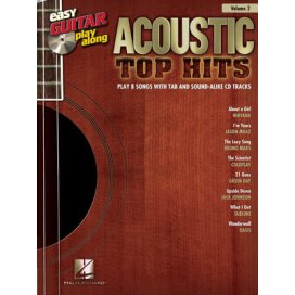 AAVV EASY GUITAR PLAY ALONG VOLUME 2: ACOUSTIC TOP HITS + CD