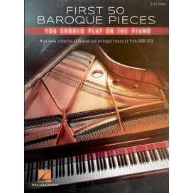 AAVV FIRST 50 BAROQUE PIECES YOU SHOULD PLAY ON PIANO