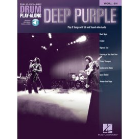 AAVV DRUM PLAY ALONG VOLUME 51: DEEP PURPLE + AUDIO ACCESS