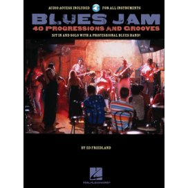 AAVV BLUES JAM - 40 PROGRESSIONS AND GROOVES FOR GUITAR + CD