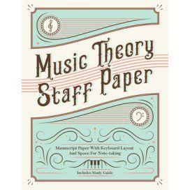 MUSIC THEORY STAFF PAPER - QUADERNO CON DISEGNO TASTIERA