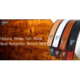 F BASS LEATHER STRAP NATURAL