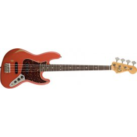 FENDER JAZZ BASS ROAD WORN FIESTA RED