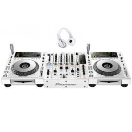PIONEER 850 PACK WHITE COPPIA CDJ850+DJM850+CUFFIA