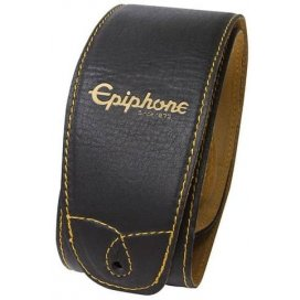 EPIPHONE AEST-BLK LEATHER STRAP