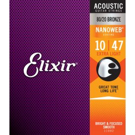 ELIXIR 11002 BRONZE EXTRA LIGHT 10-47 ACOUSTIC