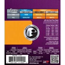 ELIXIR 11102 BRONZE MEDIUM 13-56 ACUST