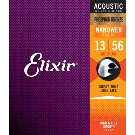 ELIXIR 16102 PHOSPHOR MEDIUM 13-56 ACOUSTIC