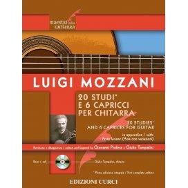 MOZZANI 20 STUDI E 6 CAPRICCI PER CHITARRA + CD AUDIO