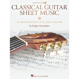 AAVV CLASSICAL GUITAR SHEET MUSIC ARRANGIAMENTO MERMIKIDES +AUDIO ACCESS