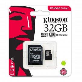 KINGSTON MICROSD 32GB SDHC CON ADATTATORE SD