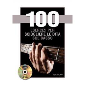 TAZZINO 100 ESERCIZI PER SCIOGLIERE LE DITA SUL BASSO +DVD