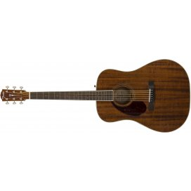 FENDER PM-1 DREADNOUGHT ALL MAH LEFT HANDED NATURAL W/CASE
