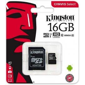 KINGSTON MICROSD 16GB SDCS CON ADATTATORE SD