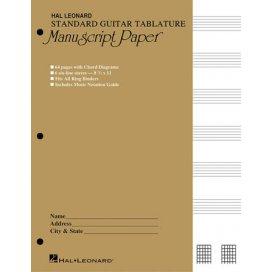 GUITAR TAB MANUSCRIPT PAPER SMALL