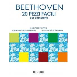 BEETHOVEN 20 PEZZI FACILI PER PIANOFORTE
