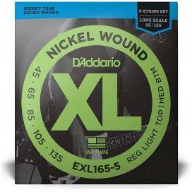 D'ADDARIO EXL165-5 SET 5 CORDE 45-135