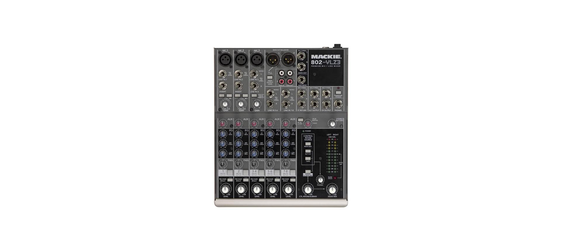 Mackie 802vlz3 Mixer 8 Canali Analogici