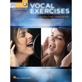 AAVV PRO-VOCAL VOCAL EXERCISES FOR BUILDING STRENGHT, ENDURANCE + AUDIO ONLINE