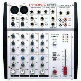 Phonic am220 mixer 6 ingressi 2 mic / 2 stereo