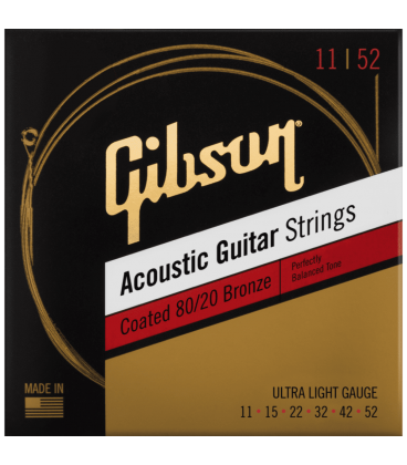 GIBSON SAG-CBRW11 COATED 80/20 BRONZE ACOUSTIC GUITAR STRINGS