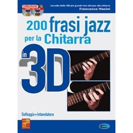 MASINI 200 FRASI PER CHITARRA JAZZ 3D + CD + DVD