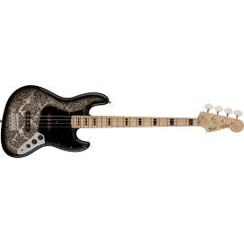 FENDER LTD JAZZ BASS MN BLACK PAISLEY