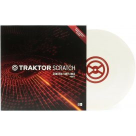 NATIVE INSTRUMENTS TRAKTOR SCRATCH VINYL WHITE MKII