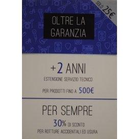 OLTRE LA GARANZIA - PRODOTTI FINO A 500 EURO