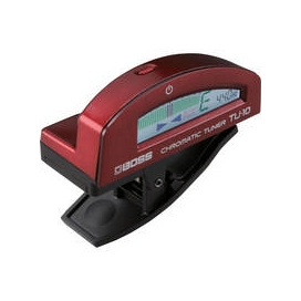 BOSS TU10RD CLIP ON CHROMATIC TUNER RED