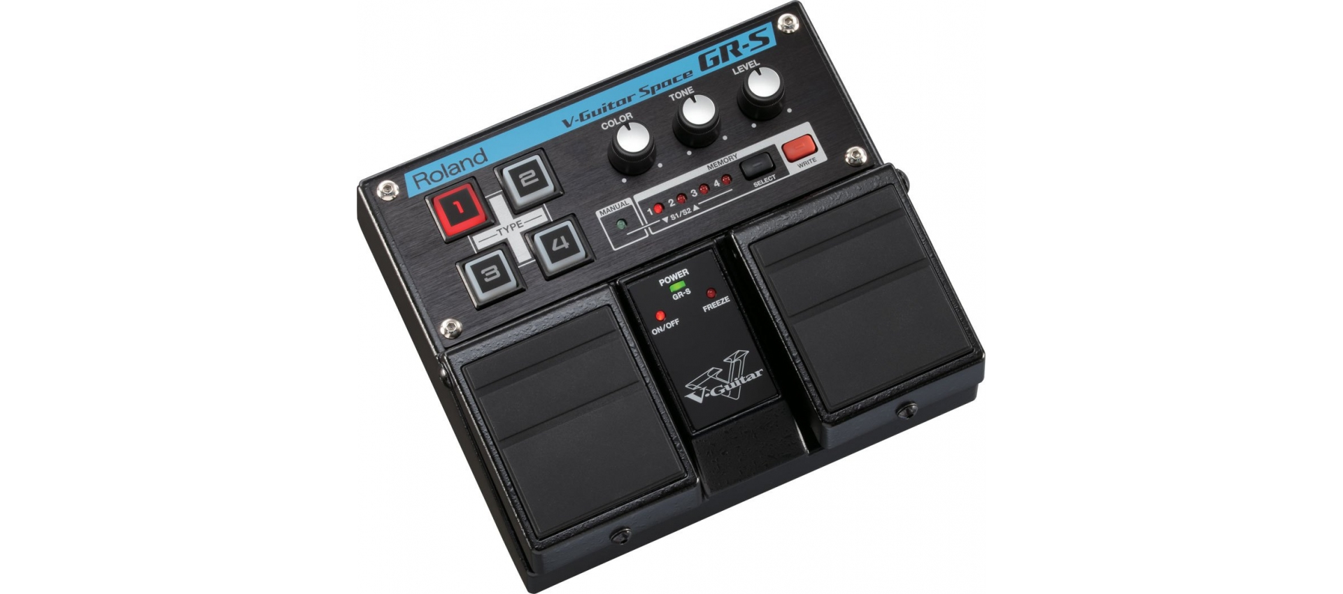 roland grs v guitar space pedal multieffetti pedaliere per chitarra. Black Bedroom Furniture Sets. Home Design Ideas