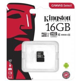 KINGSTON MICROSD 16GB SDCS2 CON ADATTATORE SD